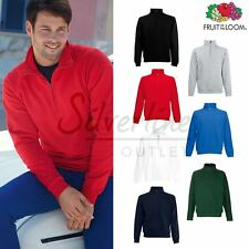 Fruit of the Loom FOTL - Men's Premium 70/30 Zip Neck Sweatshirt Jumper