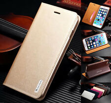 Genuine Magnetic Flip Card Wallet Leather Stand Case Cover For iPhone