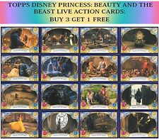 TOPPS DISNEY PRINCESS TRADING CARDS - BEAUTY & THE BEAST LIVE ACTION MOVIE CARDS