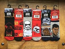 Boys/Kids Star Wars Socks, Disney, Storm Trooper Finn/Chewbacca BB-8/Kylo Ren