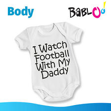 "Body Neonato Bodino Festa del Pap? ""I Watch Football With My Daddy"""