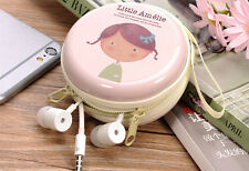Mini Zipper Earphone Headphone Box Bag SD Card Carrying Pouch Storage Case