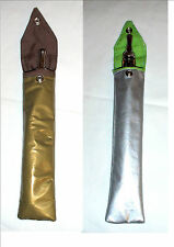 Hand made e-cig cases (22cms x 4cms) pvc, gold or silver, with belt loop,