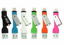 Apple MFI Certified Lightning Cable to USB Keychain Cable for iPhones,iPad,iPod