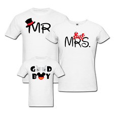 Mr and Mrs - Family T-shirts - Set Of 3