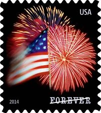 USPS Forever Stamps Star-Spangled Banner Booklet of 20 (Firewor... Free Shipping
