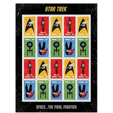 20 Star Trek USPS Forever First Class Postage Stamps Enterprise... Free Shipping