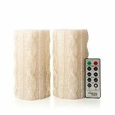 Winter Lane Set of 2 LED Flameless Sweater Candles Remote & timer