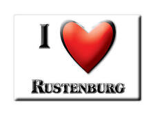NETHERLANDS HOLLAND SOUVENIR FRIDGE MAGNET KOELKAST MAGNEET I LOVE RUSTENBURG
