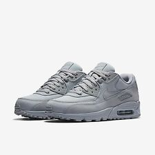 Men's Nike Air Max 90 Essential Running Shoes - Wolf Grey/Wolf Grey/Wolf Gr
