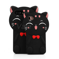 Cute 3D Cartoon Plutus Cat Soft Silicone Back Case Cover For iPhone 6 7 S Plus