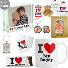 Personalised I HEART Mum Gifts Mothers Day Birthday Christmas Gift For Mummy