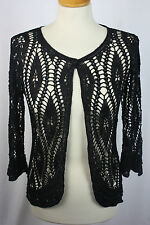 Crochet beaded black cardigan (refG20)