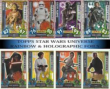 2017 Star Wars Force Attax Universe Choose your Holographic & Rainbow foil cards