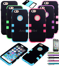 Shockproof Hybrid Rugged Rubber Hard Back Cover Case for Apple iPhone
