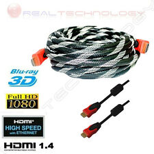 CAVO HDMI DA 2 A 30 METRI TV VIDEO PS3 XBOX360 SKY BLU-RAY FULLHD 3D ETHERNET
