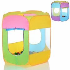 Pop Up Play Tent Playhouse for Children 6 sided with 100 balls for ball pit