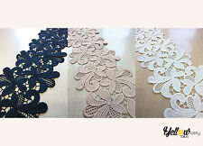 Wide Vintage Style Guipure Lace Trim Crochet Wedding Sewing Bridal Fabric 13cm