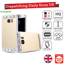 Mirror Crystal Bling Diamond TPU Thin Case Back Cover For Apple iPhone & Samsung