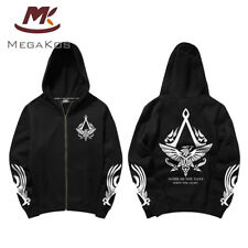 Assassin's Creed Black Flag Hoodie mit Kaputze Jacke Zip up Sweatshirt Kostüm
