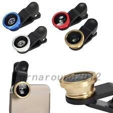 HOT 3 in1 Fish Eye+ Wide Angle + Macro Camera Clip-on Lens for iPhone Samsung