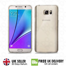 Ultra Thin Slim Clear Soft TPU Case For Samsung Galaxy Note 3,4,5+Free protector