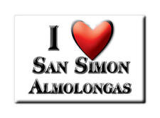 MEXICO SOUVENIR FRIDGE MAGNET IMAN DE NEVERA I LOVE SAN SIMON ALMOLONGAS