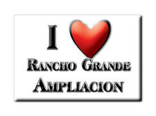 MEXICO SOUVENIR FRIDGE MAGNET IMAN DE NEVERA I LOVE RANCHO GRANDE AMPLIACION