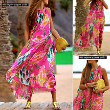 Vestito Lungo Copricostume Donna Woman Multicolor Cover Up Maxi Dress 110214