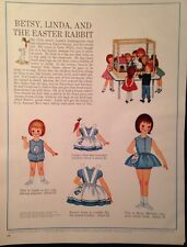 1963 Betsy McCall Paper Doll  - BETSY, LINDA and The Easter Rabbit