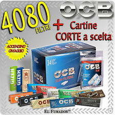 CARTINE CORTE ENJOY RIZLA OCB BRAVO SMOKING GIZEH + 4080 Filtri OCB SLIM 6mm