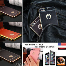For iPhone 7 6s Plus Luxury Slim Ultra-thin PU Leather Soft Phone TPU