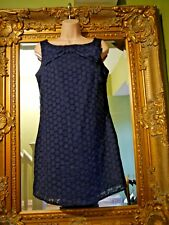 Ladies dorothy perkins beautiful navy blue bow detail dress size 12