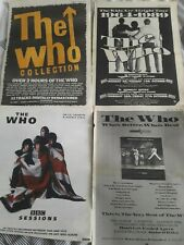 < THE WHO - WHOS BETTER WHOS BEST - original magazine advert small poster MOD