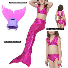 Costume Coda Sirena Monopinna Girl Swimsuit Mermaid Tail Mare Piscina SM0016 F