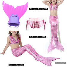 Costume Coda Sirena Monopinna Girl Swimsuit Mermaid Tail Mare Piscina SM0016 R
