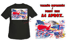 T-SHIRT USA INDEPENDENCE DAY FLAG NERA tshirt custom es