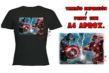 T-SHIRT DONNA CIVIL WAR AMERICA IRONMAN NERA tshirt custom es