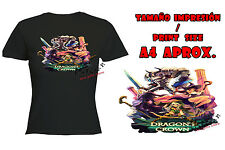 T-SHIRT DONNA DRAGONS CROWN EROI NERA tshirt custom es