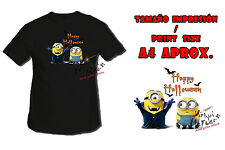 T-SHIRT MINIONS HAPPY HALLOWEEN DRACULA NERA tshirt custom es