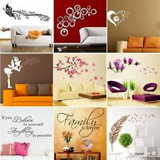 Family Room DIY Removable Wall Stickers Decal Art Vinyl Mural Home Decor Hot LK#