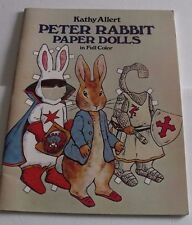 Peter Rabbit Paper Dolls in Full Color by Kathy Allert 1982