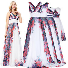GK Spring Series Lady Dreaming Flower Chiffon Ball Gown Evening Prom Party Dress
