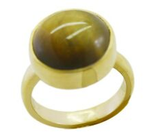 attractive Tiger Eye Gold Plated Brown Ring jaipur L-1in IN 7,8,9