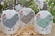 GISELA GRAHAM EASTER COUNTRY SHABBY CHIC HEN SWEET HEN POLKA DOT EGG COSY