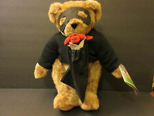 Vermont Teddy Bear NWT Love Bandit with Roses Jointed CUTE Gift