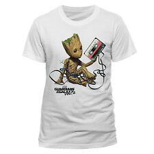 GUARDIANS OF THE GALAXY VOL 2 - BABY GROOT TANGLED UP IN CASSETTE TAPE T-SHIRT