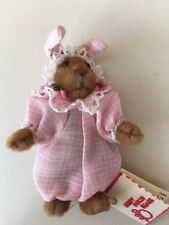 Artist Debora Evans 2.5 in Bunny or Bear Tiny  New with Tag 1995 Vintage Berry