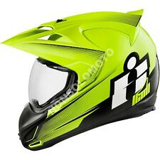 Casco Integrale Moto Cross Enduro Quad Icon Variant Double Stack Hiviz