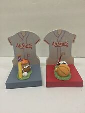 Kids Line Vintage All Star Bookends Baseball, football, and soccer